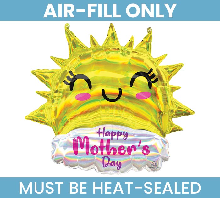 "14""FLAT MOTHER'S DAY IRIDESCENT SUN"