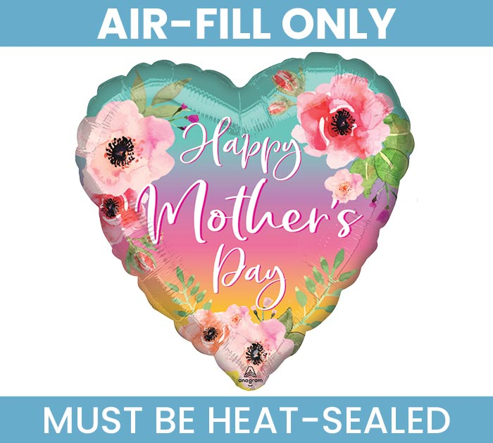 """4""""FLAT MOTHER'S DAY FLORAL  OMBRE HEART"""