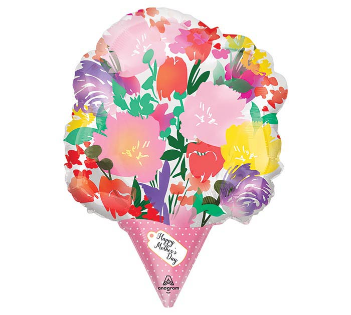 """18"""" MOTHER'S DAY WATERCOLOR BOUQUET SHAP"""