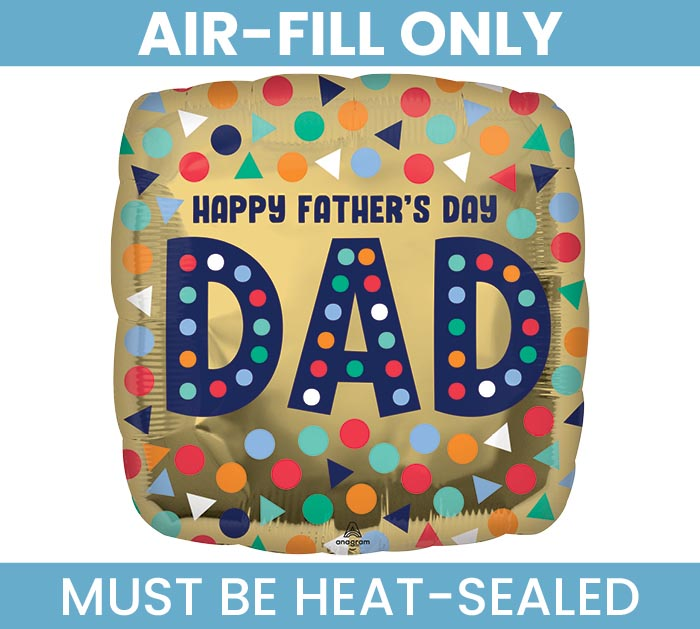 """9""""FLAT HAPPY FATHER'S DAY DAD SQUARE"""