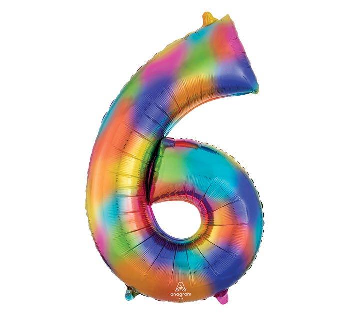 """34""""PKG SHA NUMBER 6 RAINBOW SPLASH"""