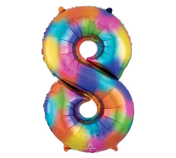 """34""""PKG SHA NUMBER 8 RAINBOW SPLASH"""