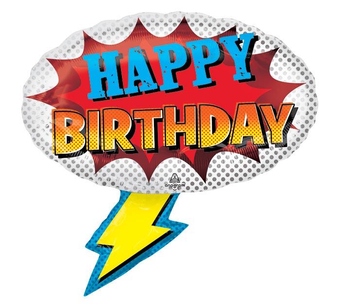 "27""PKG SUPER HERO BIRTHDAY SHAPE"