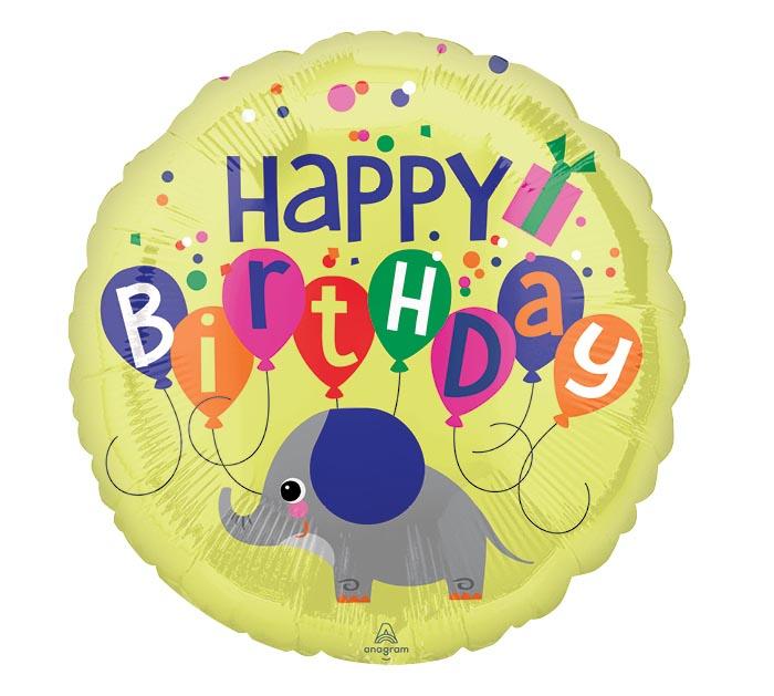 """17""""PKG ELEPHANT BIRTHDAY"""