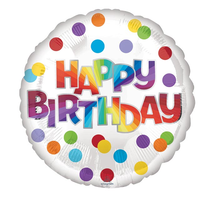 """17""""PKG BIRTHDAY DOTS OF COLOR"""
