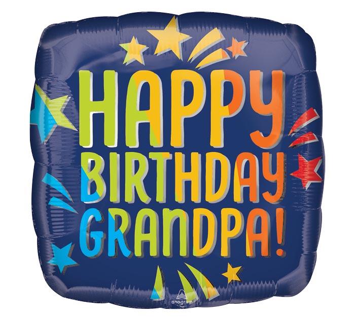 "17""PKG HAPPY BIRTHDAY GRANDPA BLUE"