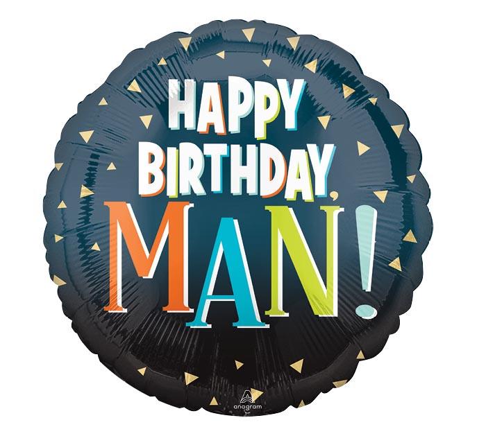 """17""""PKG HAPPY BIRTHDAY MAN"""