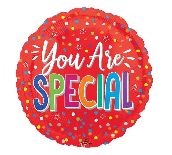 """9""""INFLATED YOU ARE SPECIAL RED"""