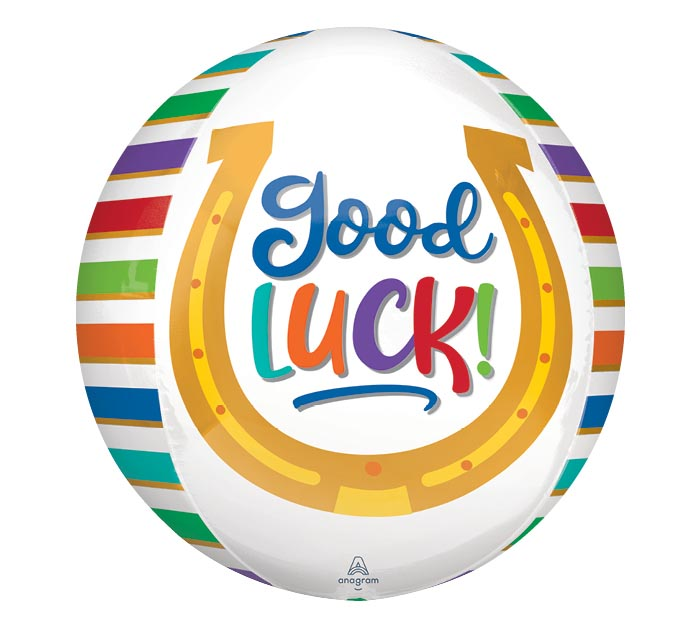 "16"" PKG GOOD LUCK HORSESHOE ORBZ BALLOON"
