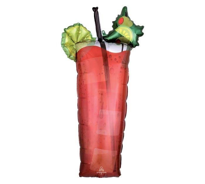 "37"" PKG BLOODY MARY SHAPE BALLOON"