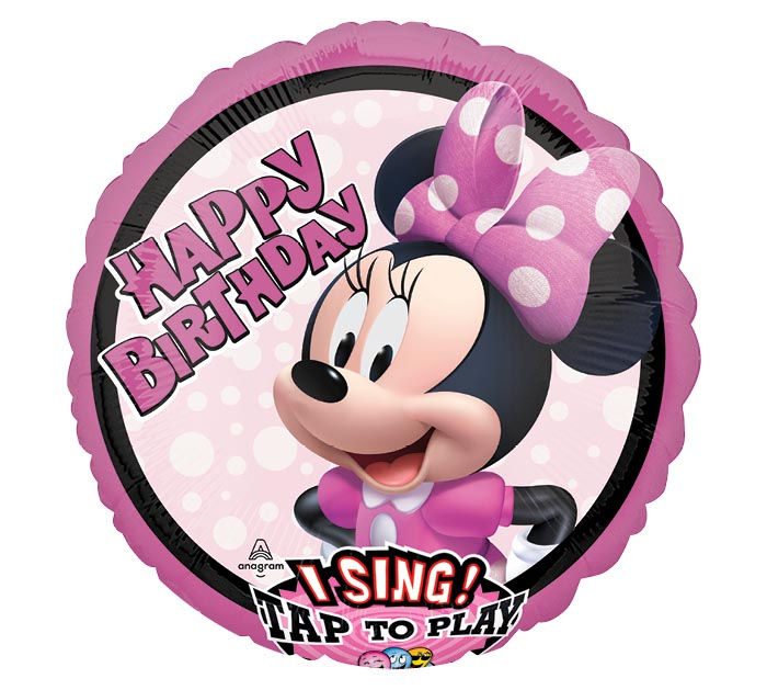 """28""""PKG HBD MINNIE MOUSE SING A TUNE"""