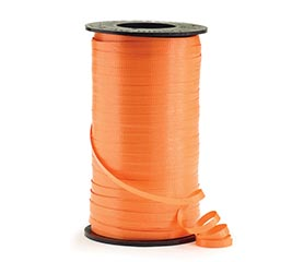 "3/16"" TROPICAL ORANGE CURLING RIBBON"