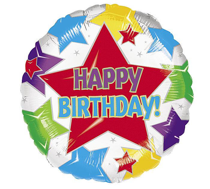 """17"""" HAPPY BIRTHDAY STARS"""