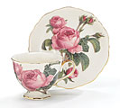 ROSE GARDEN CUP AND SAUCER