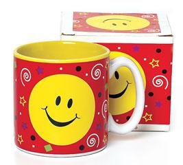 SMILEY FACE PARTY CERAMIC MUG W/ BOX