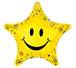"20""SMILEY FACE STAR"