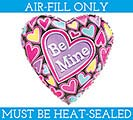 "9""FLAT VAL BE MINE MINI SHAPE"