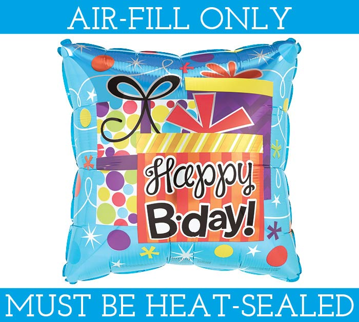 "4"" FLAT HAPPY BIRTHDAY MINI BALLOON"