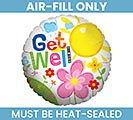 "4"" FLAT GET WELL MINI BALLOON"