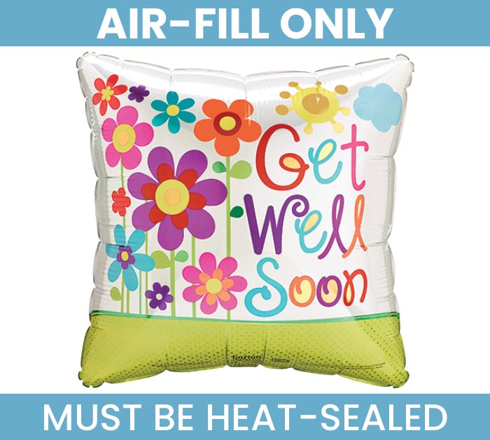 "4"" FLAT GET WELL SOON MINI BALLOON"