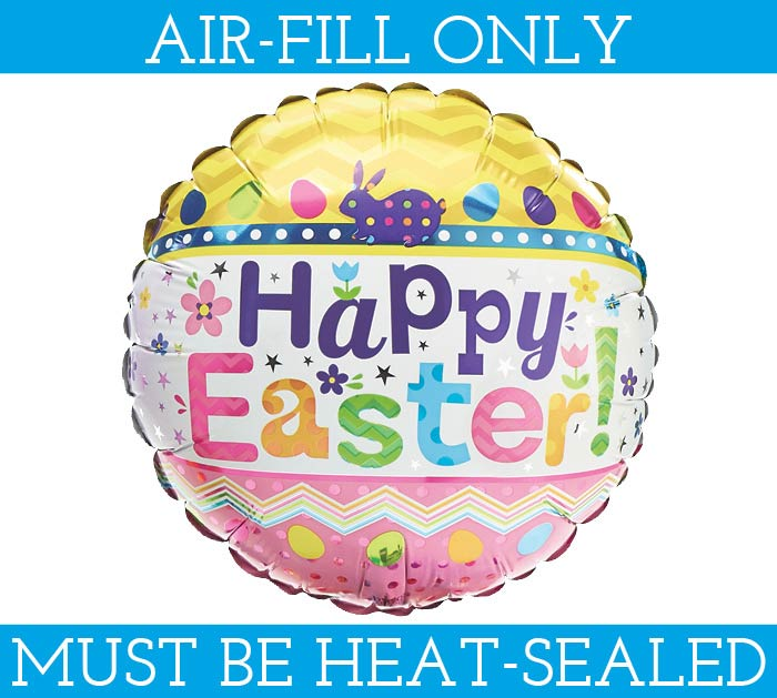 """9""""EASTER BALLOON MUST BE FILLED WITH AIR"""