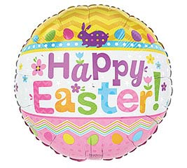 17: EASTER PATTERN WITH STRIPES BALLOON