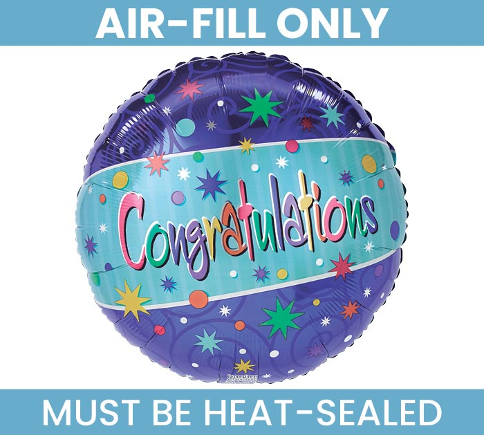"""9"""" CONGRATULATIONS MUST FILL WITH AIR"""