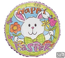 "17"" ROUND EASTER HIP HOP HOORAY BALLOON"
