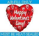 "9""FLAT HVD SKETCHED HEARTS MINI SHAPE"