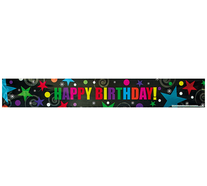 50 YD BANNER HAPPY BIRTHDAY