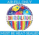 "9"" CONGRATULATIONS MUST FILL WITH AIR"