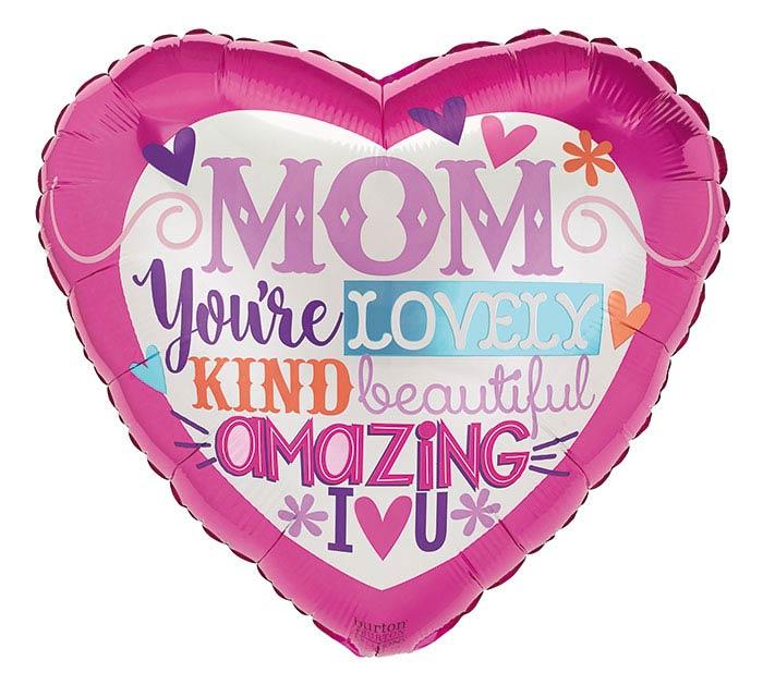 """17""""MOM LOVELY WORDS"""