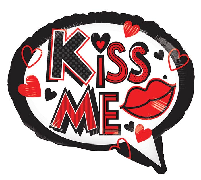 """14""""INFLATED LUV KISS ME KISS  TELL"""