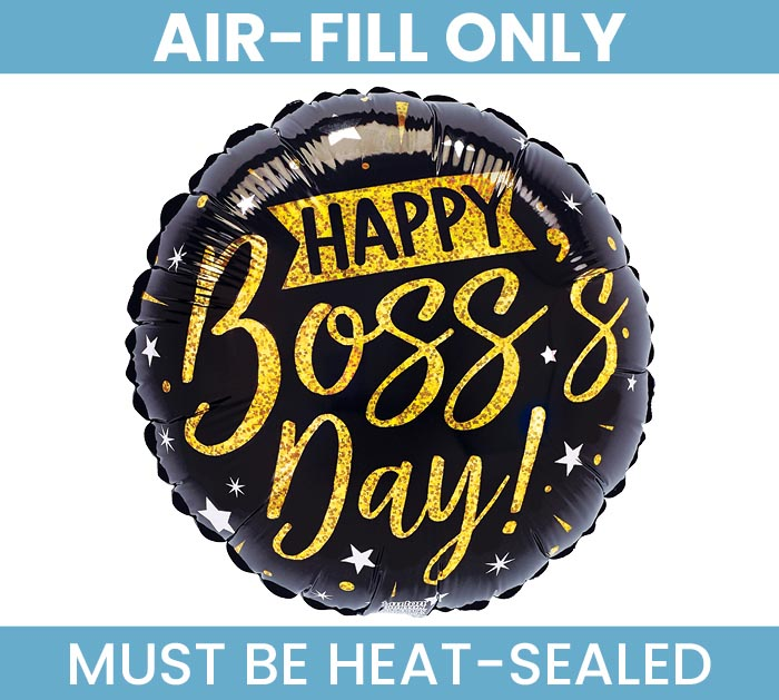"9""FLAT BOSS'S DAY BLACK AND GOLD"