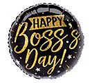 "9""INFLATED BOSS'S DAY GOLD  BLACK"