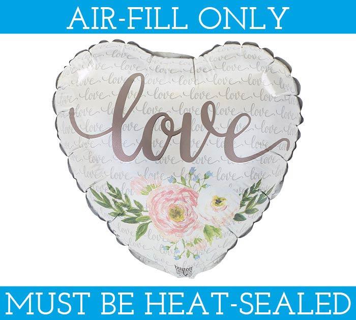 "9""FLAT FLORAL LOVE HEART"