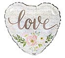 """9""""INFLATED FLORAL LOVE HEART"""