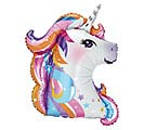 "36""PKG NEON UNICORN HEAD SHAPE"
