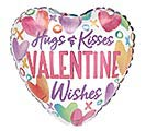 "4""INFLATED SWEET WISHES HUGS  KISSES"