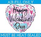 "4"" FLAT VALENTINE BLISS KISS HEART"