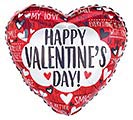 """17"""" VALENTINE'S DAY MESSAGES ON HEART"""