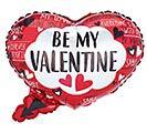 "22"" BE MY VALENTINE SPEECH HEART BUBBLE"
