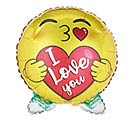 "18"" I LOVE YOU KISSING EMOTICON SHAPE"