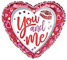 "17"" YOU AND ME VALENTINE HEART PINK/RED"