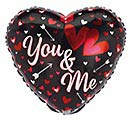 "17"" YOU AND ME VALENTINE HEARTS/ARROWS"