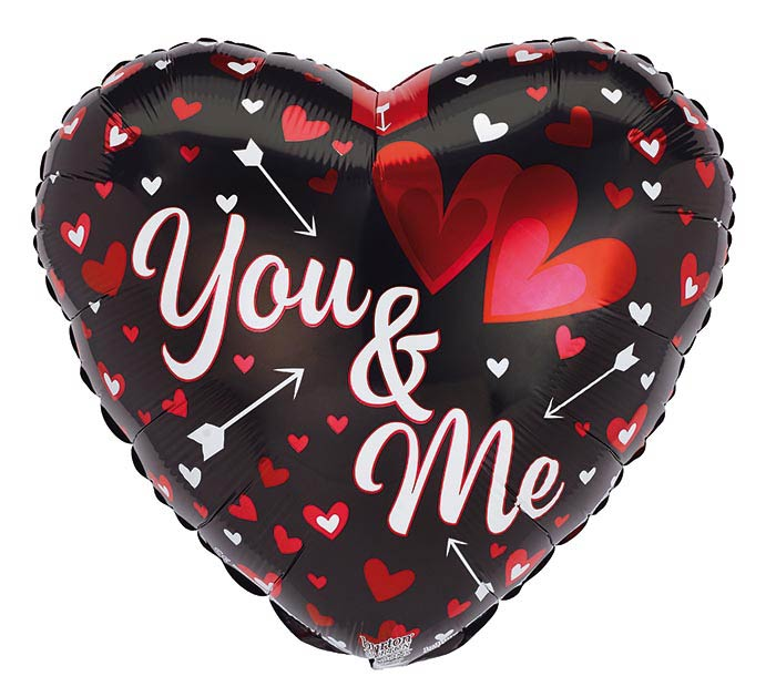 """17"""" YOU AND ME VALENTINE HEARTS/ARROWS"""