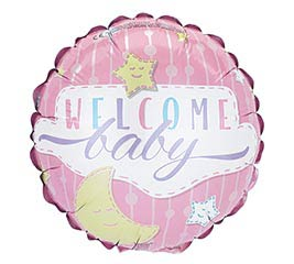 """9""""INFLATED WELCOME BABY GIRL"""