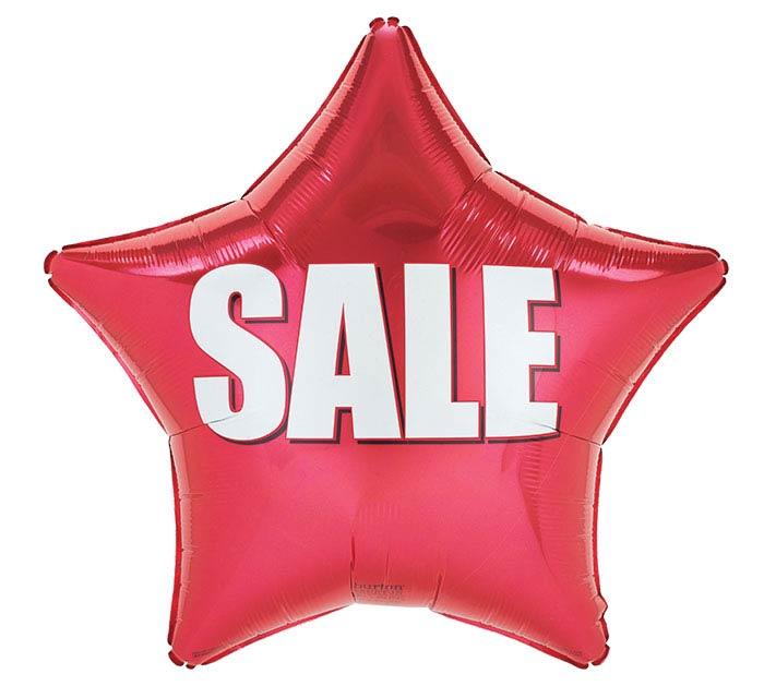 """19"""" RED SALE STAR"""