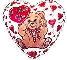"4""INFLATED LOVE BEAR"