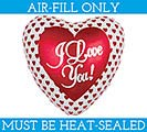"4"" FLAT ILY MINI SHAPE BALLOON"